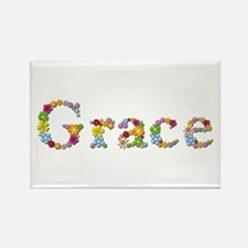 Grace Bright Flowers Rectangle Magnet