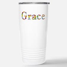 Grace Bright Flowers Travel Mug