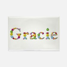 Gracie Bright Flowers Rectangle Magnet