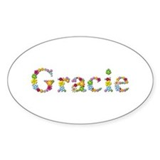 Gracie Bright Flowers Oval Decal