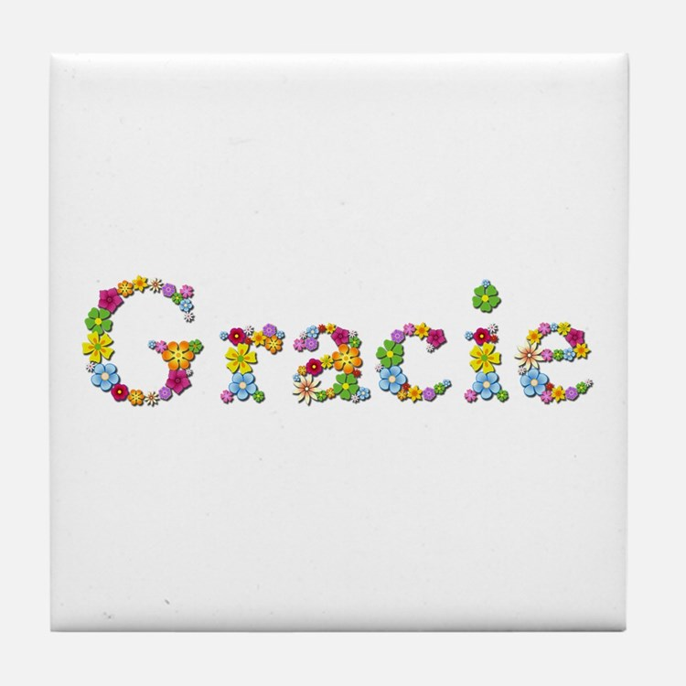 Gracie Bright Flowers Tile Coaster