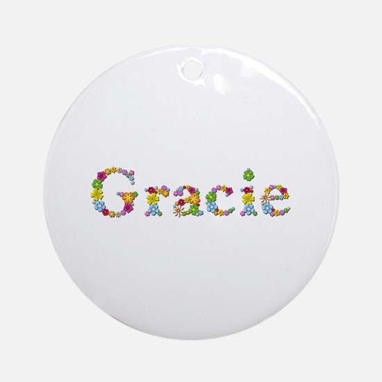 Gracie Bright Flowers Round Ornament