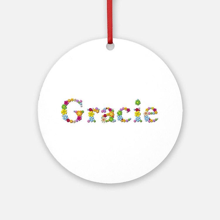 Gracie Bright Flowers Round Ornament