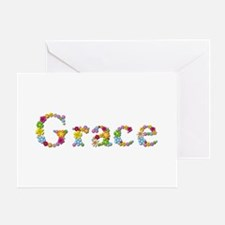 Grace Bright Flowers Greeting Card