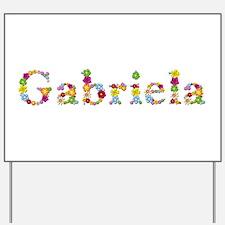 Gabriela Bright Flowers Yard Sign
