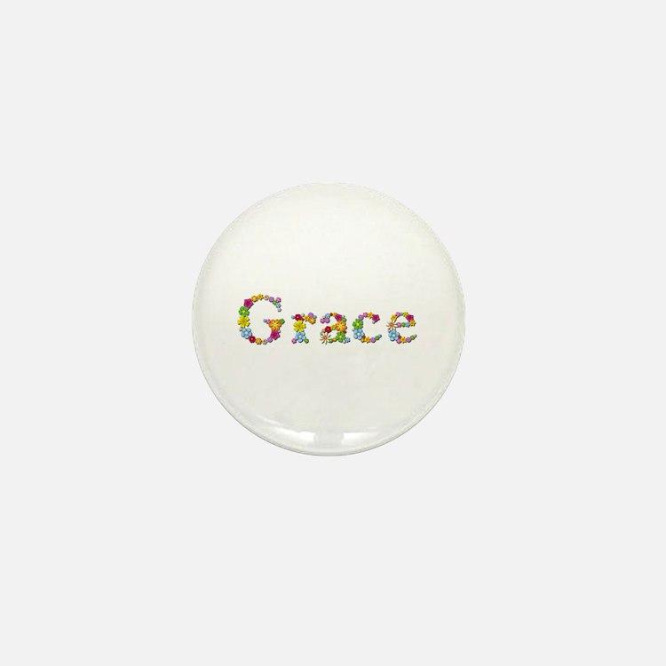 Grace Bright Flowers Mini Button