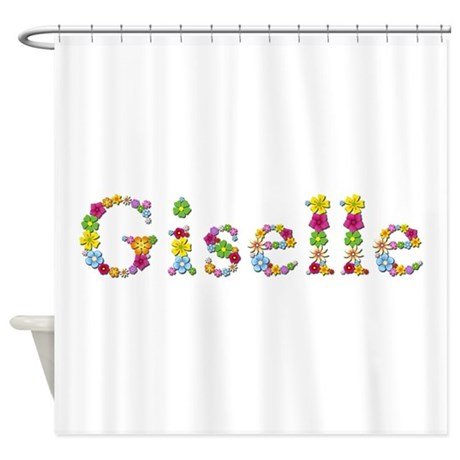giselle bright flowers shower curtain by namestuff brightflowers aj