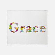 Grace Bright Flowers Throw Blanket