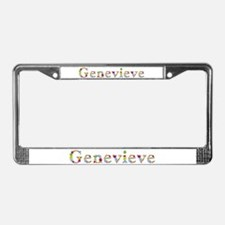 Genevieve Bright Flowers License Plate Frame
