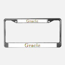 Gracie Bright Flowers License Plate Frame