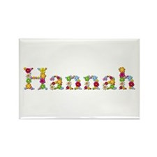 Hannah Bright Flowers Rectangle Magnet