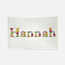Hannah Bright Flowers Rectangle Magnet