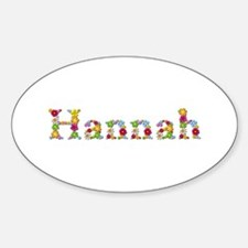Hannah Bright Flowers Oval Decal