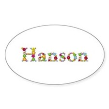 Hanson Bright Flowers Oval Decal