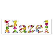 Hazel Bright Flowers Bumper Bumper Sticker