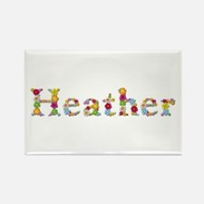 Heather Bright Flowers Rectangle Magnet