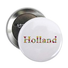 Holland Bright Flowers Button 10 Pack
