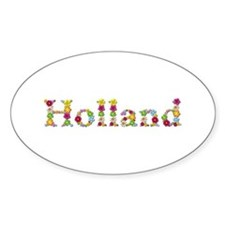 Holland Bright Flowers Oval Decal