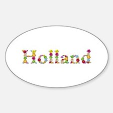 Holland Bright Flowers Oval Stickers