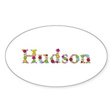 Hudson Bright Flowers Oval Decal