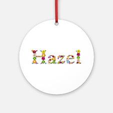 Hazel Bright Flowers Round Ornament