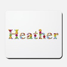 Heather Bright Flowers Mousepad