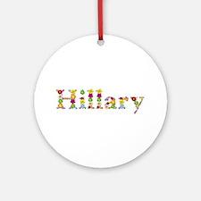 Hillary Bright Flowers Round Ornament