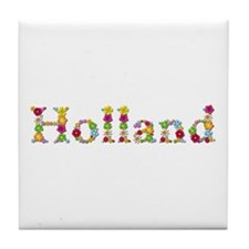 Holland Bright Flowers Tile Coaster