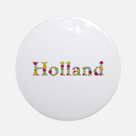 Holland Bright Flowers Round Ornament