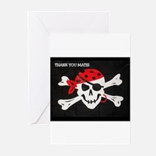 PERSONALIZED PIRATE THANK YOU CARDS (Pk of 10) Gre