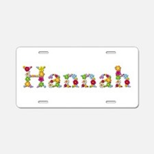 Hannah Bright Flowers Aluminum License Plate