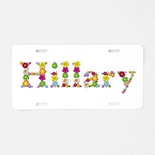 Hillary Bright Flowers Aluminum License Plate