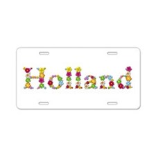 Holland Bright Flowers Aluminum License Plate