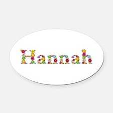 Hannah Bright Flowers Oval Car Magnet