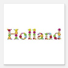 Holland Bright Flowers Square Car Magnet