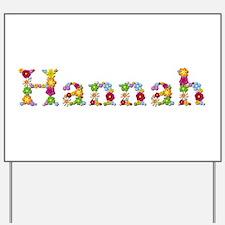 Hannah Bright Flowers Yard Sign