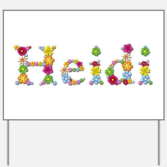Heidi Bright Flowers Yard Sign