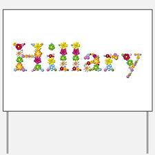 Hillary Bright Flowers Yard Sign