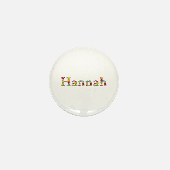 Hannah Bright Flowers Mini Button