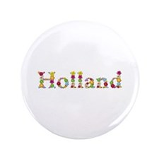 Holland Bright Flowers Big Button