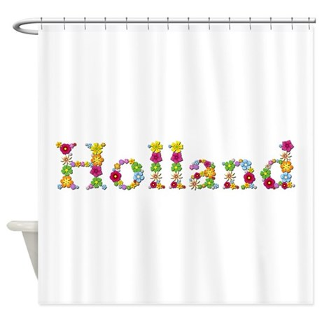 holland bright flowers shower curtain by namestuff