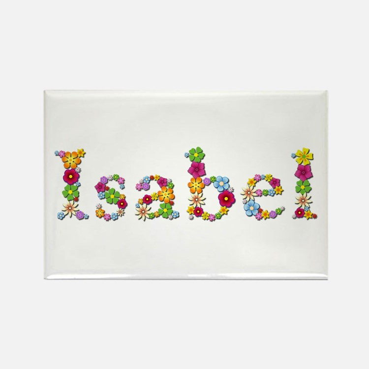 Isabel Bright Flowers Rectangle Magnet
