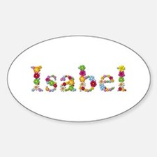 Isabel Bright Flowers Oval Decal