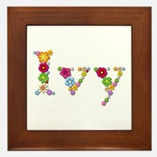 Ivy Bright Flowers Framed Tile