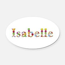 Isabelle Bright Flowers Oval Car Magnet