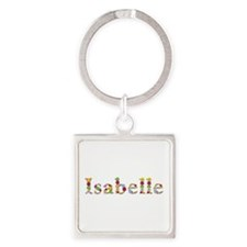 Isabelle Bright Flowers Square Keychain