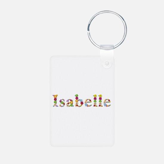 Isabelle Bright Flowers Aluminum Keychain
