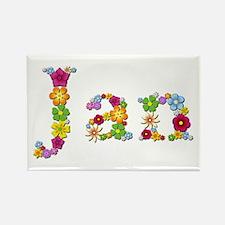 Jan Bright Flowers Rectangle Magnet