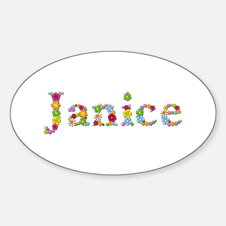 Janice Bright Flowers Oval Decal