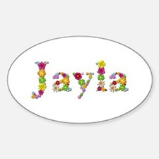 Jayla Bright Flowers Oval Decal